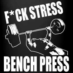 F*CK STRESS, BENCH PRESS Mugs & Drinkware - Full Color Mug