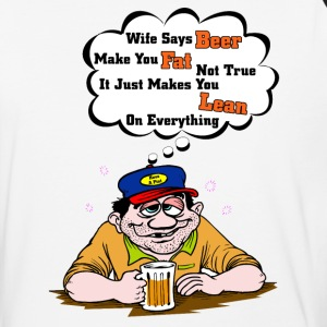 Wife Says Beer Makes You Fat I Mens Baseball T-Shi - Baseball T-Shirt