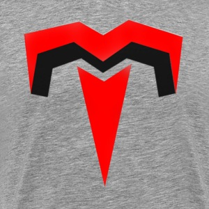 Gray T-Shirt With Red Tenk Clan Logo - Men's Premium T-Shirt