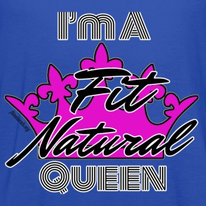 I'm a Fit Natural Queen (White) Flowy Tank Top - Women's Flowy Tank Top by Bella