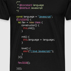 I Love Javascript (Men) - Men's Premium T-Shirt