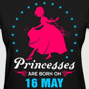 Priencess are Born on 16 May - Women's T-Shirt
