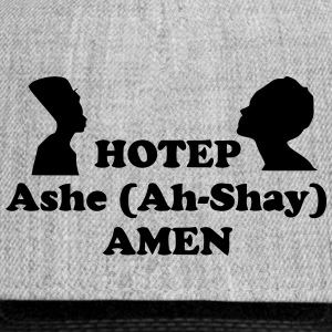 Hotep Ashe Amen snap back cap - Snap-back Baseball Cap