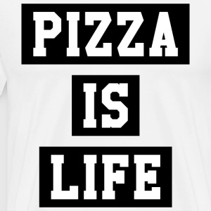 PIZZA IS LIFE - Men's Premium T-Shirt