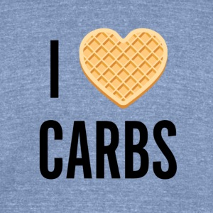 I [waffle] Carbs - Unisex Tri-Blend T-Shirt by American Apparel