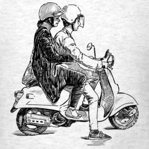 Boy & Girl on Scooter - Men's T-Shirt