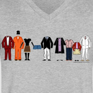 Arrested Development Bluth Family Lineup - Men's V-Neck T-Shirt by Canvas