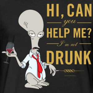 American Dad Roger Drunk - Fitted Cotton/Poly T-Shirt by Next Level
