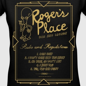 American Dad Roger's Place Bar Poster - Women's V-Neck T-Shirt