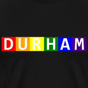 Men's Durham Pride Colors Premium Tee - Men's Premium T-Shirt