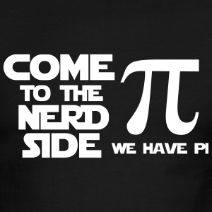 Come to the nerd side we have pi - Men's Ringer T-Shirt