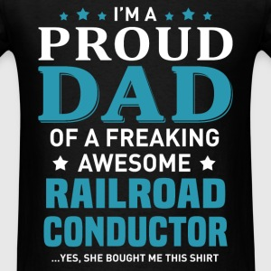 Railroad Conductor's Dad - Men's T-Shirt