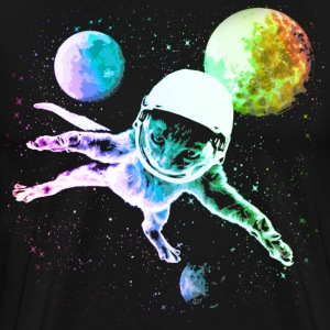 Astronaut Kitty Cat in Space  - Men's Premium T-Shirt