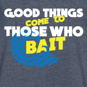 Good Thing Come To Those Who Bait Men V Neck - Men's V-Neck T-Shirt by Canvas