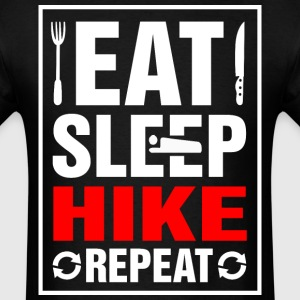 Eat Sleep Hike Repeat - Men's T-Shirt