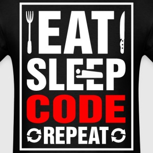 Eat Sleep Code Repeat - Men's T-Shirt