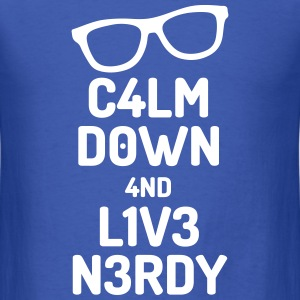 calm down nerdy T-Shirts - Men's T-Shirt