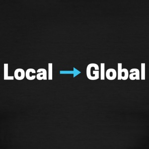 Local to Global t-shirt - Men's Ringer T-Shirt