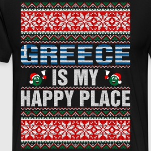 Greece Is My Happy Place T-Shirts - Men's Premium T-Shirt