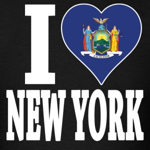 I love New York flag USA t-shirt - Men's T-Shirt