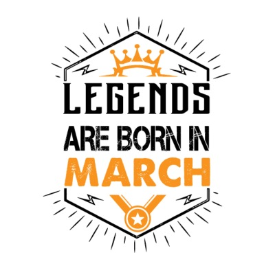 Legends Are Born In March T-Shirts