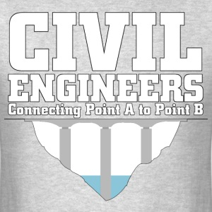 Civil Engineers Connecting A2B - Men's T-Shirt