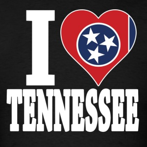 I love Tennessee flag USA Patriotic t-shirt - Men's T-Shirt