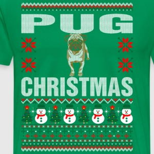 Pug Christmas Ugly Sweater T-Shirts - Men's Premium T-Shirt