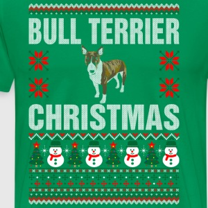 Bull Terrier Christmas Ugly Sweater T-Shirts - Men's Premium T-Shirt