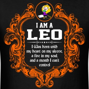 I Am A Leo I was Born with my heart on my sleeve a - Men's T-Shirt