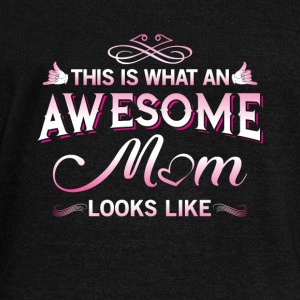 This is what an awesome mom looks like Long Sleeve Shirts - Women's Wideneck Sweatshirt
