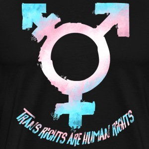 Trans Rights Are Human Rights Symbol Pride Flag - Men's Premium T-Shirt