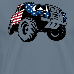 Truck Driver Day With American Flag T-Shirt - Men's Premium T-Shirt