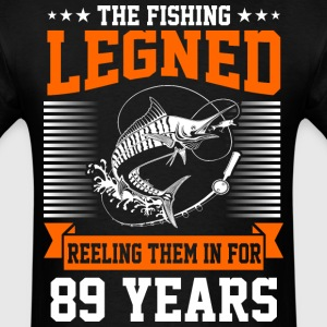The Fishing Legend Reeling Them In For 89 Years - Men's T-Shirt
