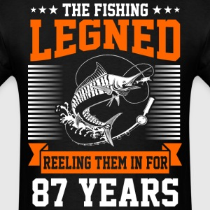 The Fishing Legend Reeling Them In For 87 Years - Men's T-Shirt