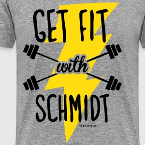 New Girl Get Fit with Schmidt - Men's Premium T-Shirt