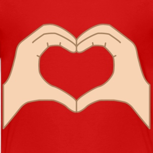 Heart from hands isolated Kids' Shirts - Kids' Premium T-Shirt