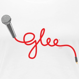 Glee Typography Microphone Lettering - Women's Premium T-Shirt