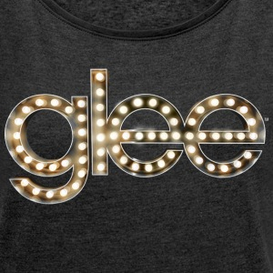 Glee Logo Lettering Stage Lights - Women's Roll Cuff T-Shirt