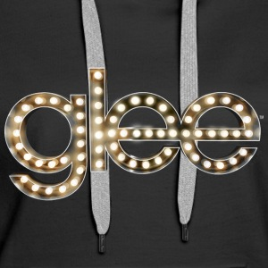 Glee Logo Lettering Stage Lights - Women's Premium Hoodie