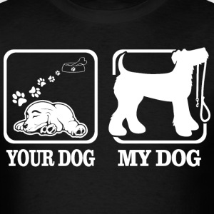 Your Dog My Dog Airedale Terrier Lets Go Walking T-Shirts - Men's T-Shirt