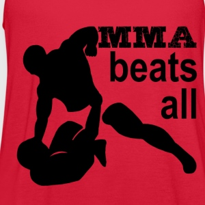 MMA beats all - Women's Flowy Tank Top by Bella