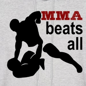 MMA beats all - Men's Hoodie