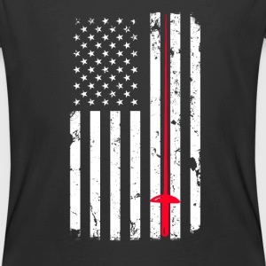 Fencing and American Flag design - Men's 50/50 T-Shirt
