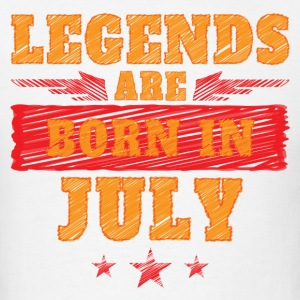 Legends Are Born In July T-Shirts - Men's T-Shirt