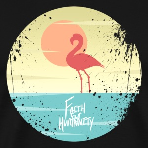 FFH - Flamingo. Black Edition - Men's Premium T-Shirt