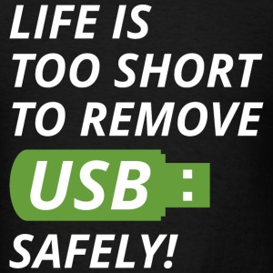 Remove USB Safely - Men's T-Shirt