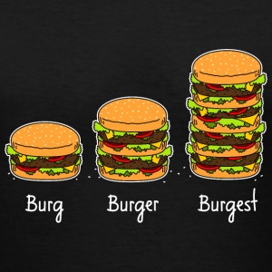 Burger explained 02 T-Shirts - Women's V-Neck T-Shirt