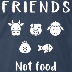 Friends not food | Vegan T-shirt - Men's Premium T-Shirt