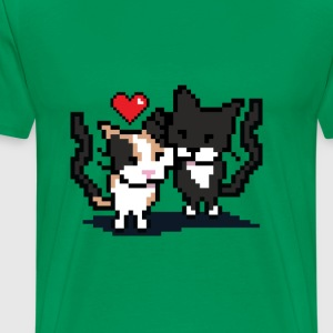 Pixel Cat Love - Men's Premium T-Shirt